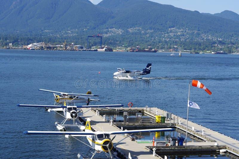 Base de hidroavión del puerto del carbón de Vancouver imagen de archivo libre de regalías