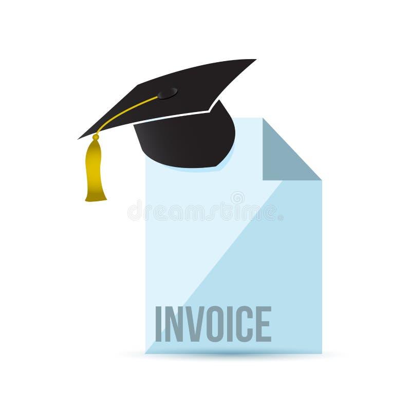 base de la factura en concepto de la educación ilustración del vector