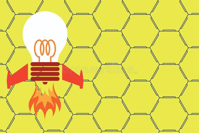 Base de lancement d'attaque par missiles d'ampoule de vue de face o Travail cr?ateur Les id?es alimentent l'inspiration futuriste illustration libre de droits