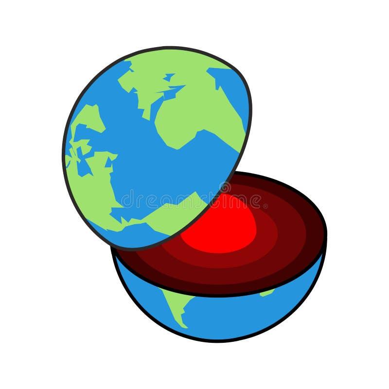 Base de tierra Centro del planeta Estructura de la corteza de tierras Interna libre illustration