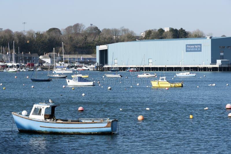 Base degli yacht di principessa su Plymouth Regno Unito immagine stock