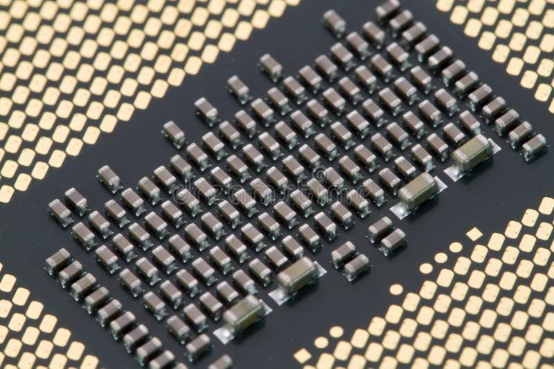 Base del procesador del ordenador foto de archivo