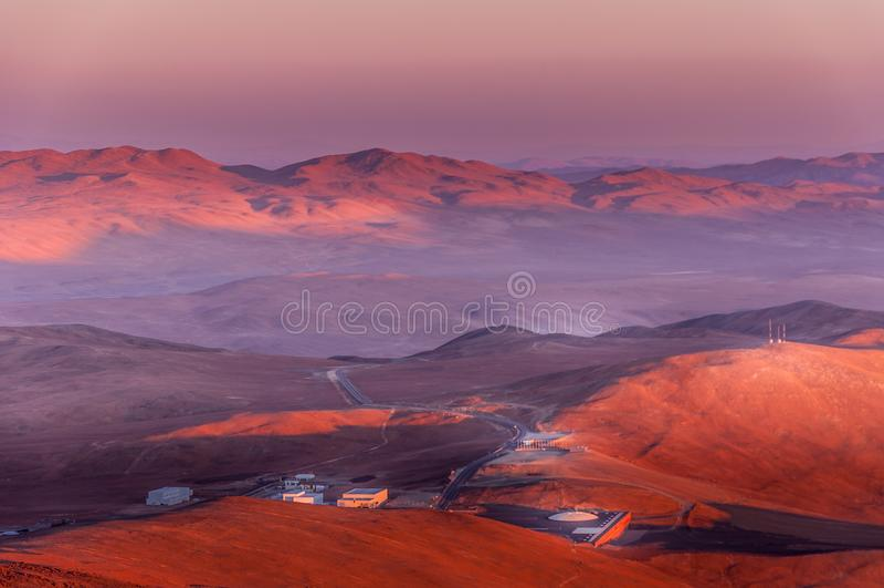 Base dell'osservatorio di Paranal fotografia stock