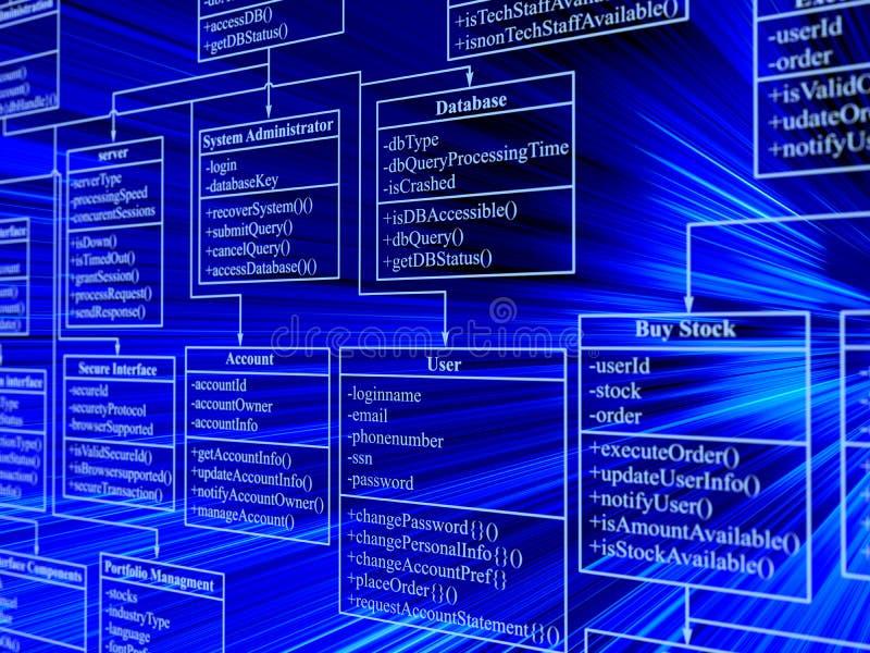 Base di dati illustrazione di stock