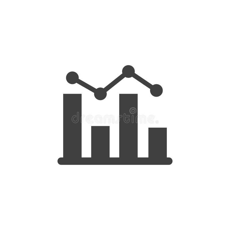 Base di dati, server, icona di vettore dell'istogramma Elemento dei dati per l'illustrazione mobile dei apps di web e di concetto illustrazione di stock