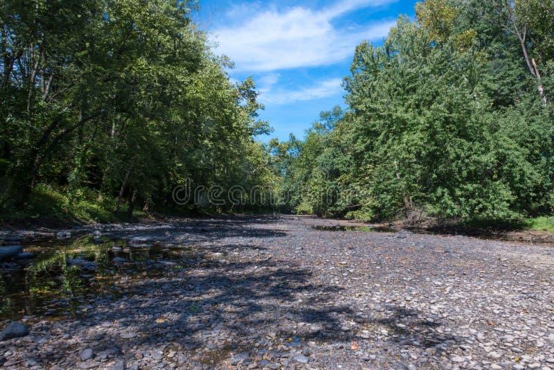 Base di fiume asciutta fotografia stock