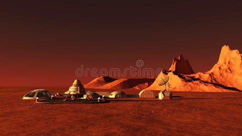 Base di Marte illustrazione di stock