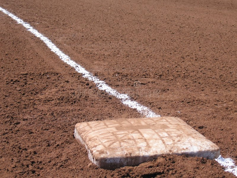 Base Dirt and Chalk stock images