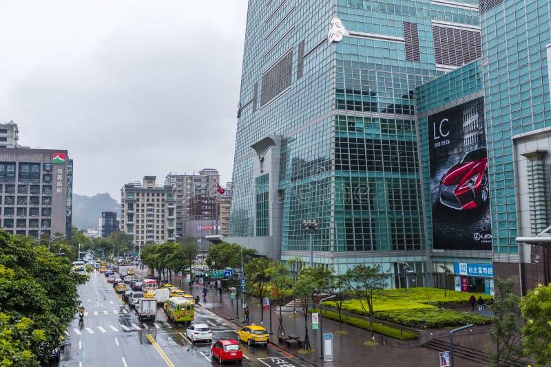 Base do arranha-céus de Taipei 101 imagens de stock