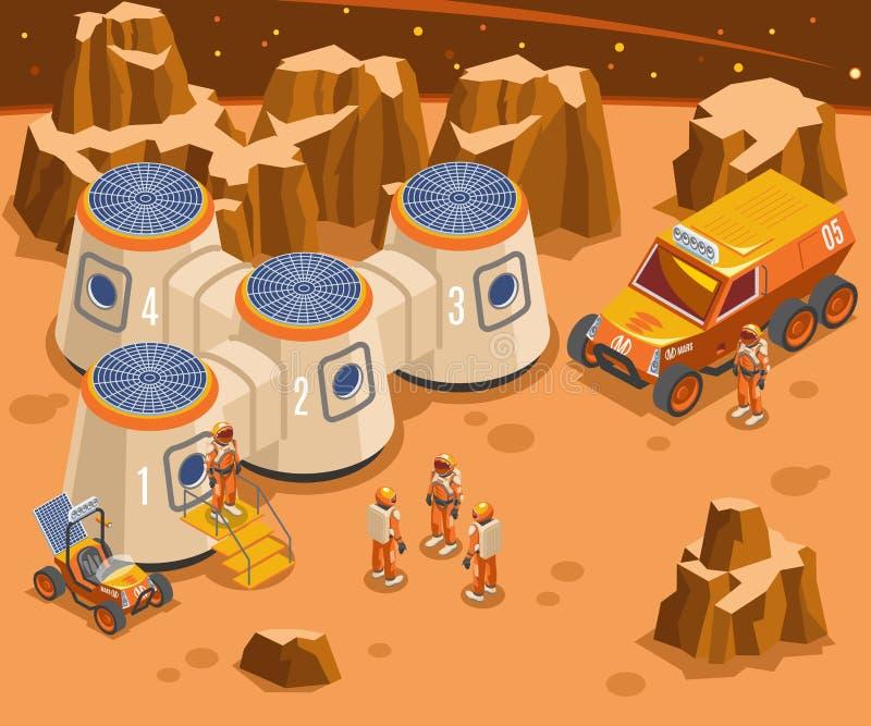 Base en el ejemplo isométrico de Marte libre illustration