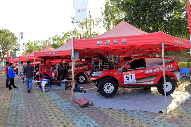The base of haval suv race fleet stock images