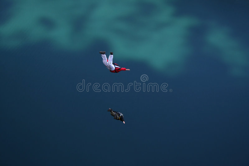 Base jumpers falling down