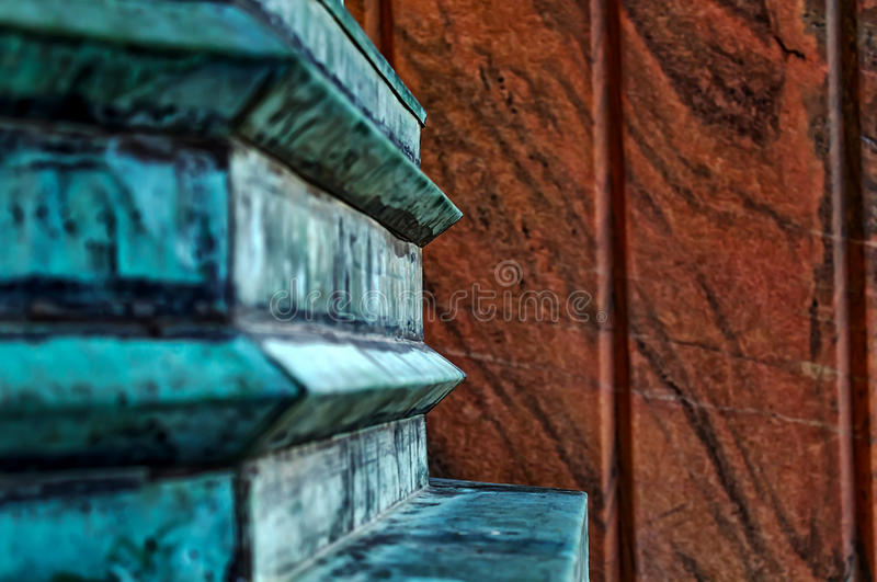 Base of a light fixture in Asheville, North Carolina, USA royalty free stock photography