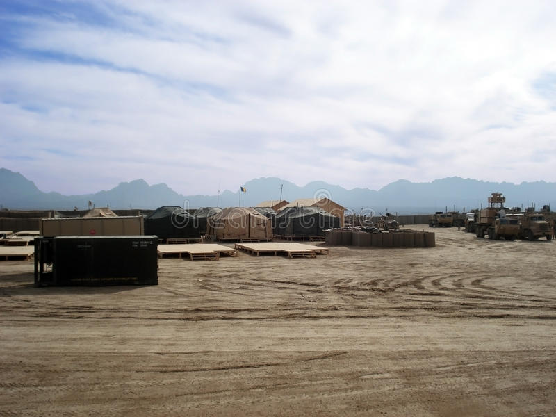 Base militar em Afeganistão imagens de stock royalty free