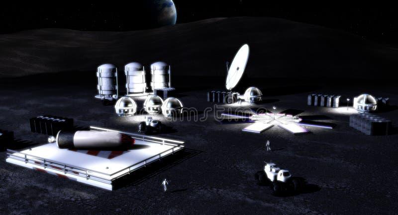 base moon vektor illustrationer