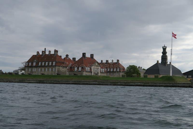 Base naval real em Copenhaga imagens de stock