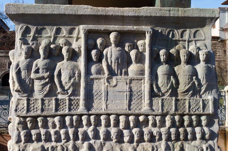 Base of the Obelisk of Theodosius stock image