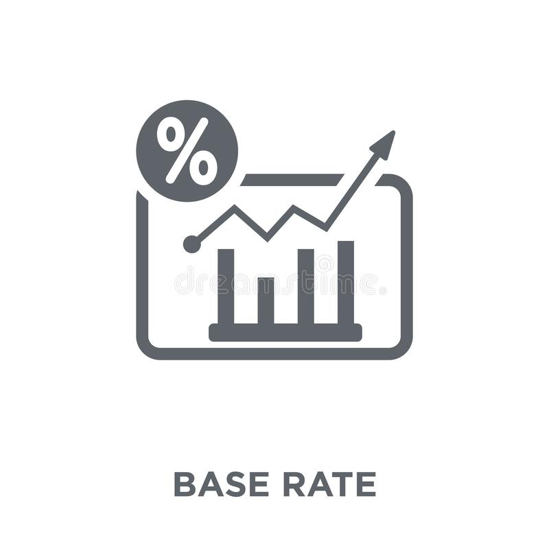 Base rate icon from Base rate collection. vector illustration
