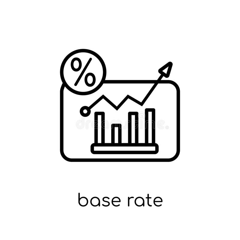 Base rate icon from Base rate collection. royalty free illustration