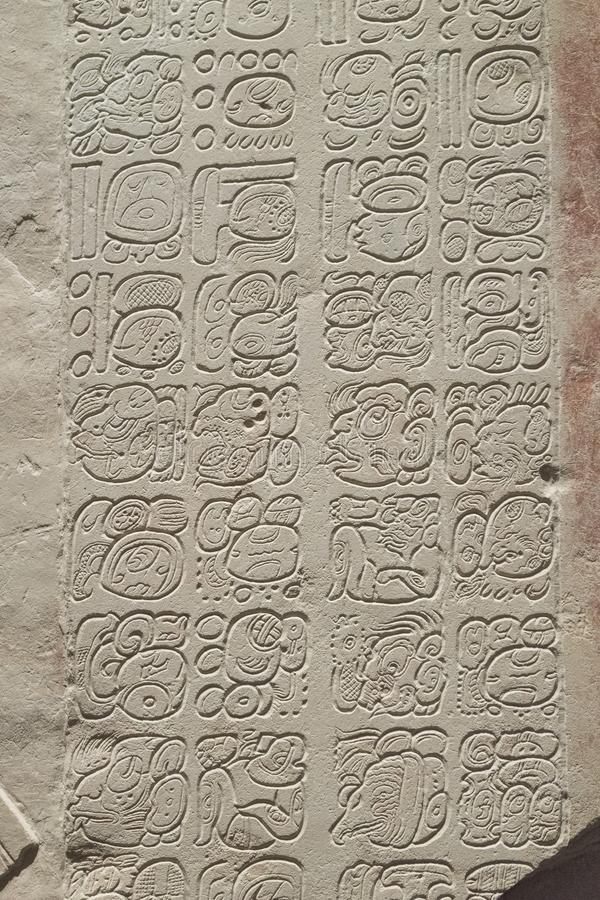 Free Base Relief Of Mayan Stone Carving, Maya Civilization Art. Stock Photos - 144359023