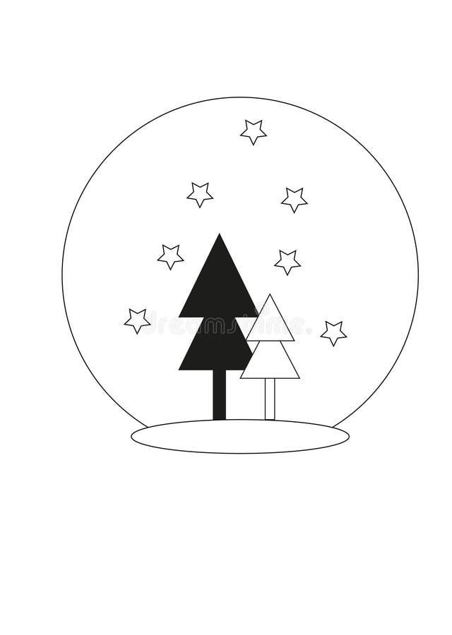 Base RGBcard con los árboles de navidad, concepto de la Feliz Navidad fotos de archivo libres de regalías
