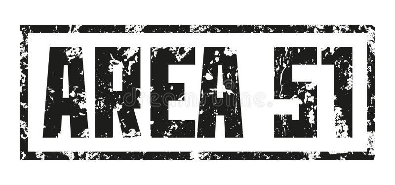 Base segreta del bollo AREA 51 Stampa nera su fondo bianco Disegno di vettore illustrazione vettoriale