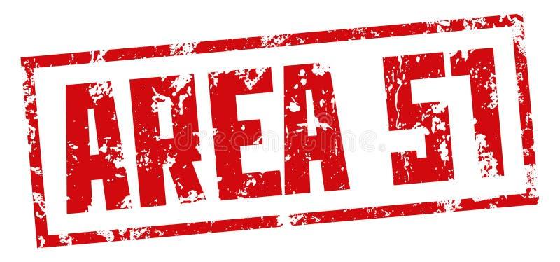 Base segreta del bollo AREA 51 Stampa rossa su fondo bianco Disegno di vettore royalty illustrazione gratis