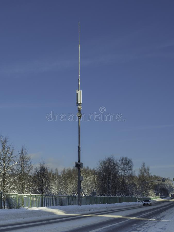 Tower hosted equipment cellular royalty free stock images