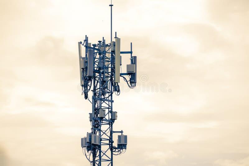 Base Station or Base Transceiver Station. Telecommunication tower stock photos