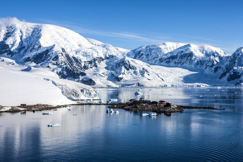 Base station-3 de Chileen da pesquisa da Antártica fotografia de stock royalty free