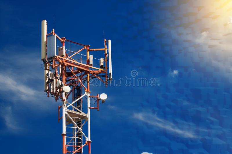 Base station network operator. 5G. 4G, 3G mobile technologies. royalty free stock photography