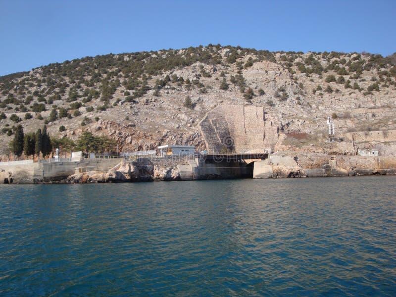 Base submarina fotos de archivo