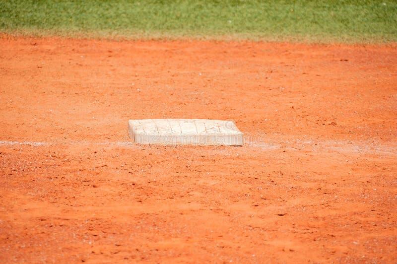 Base sul campo di baseball immagini stock