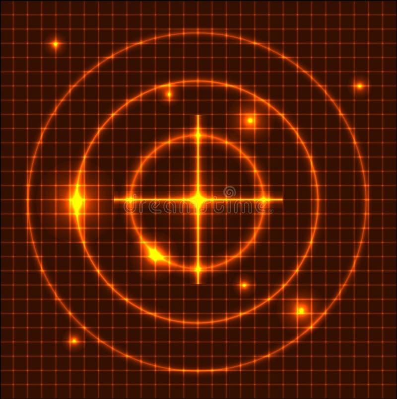 Base tecnica arancione astratta illustrazione vettoriale