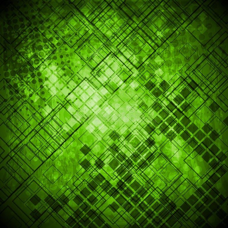 Base tecnica di lerciume verde astratto illustrazione vettoriale