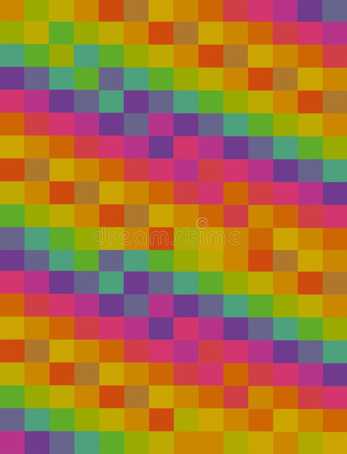 Base vertical violeta verde anaranjada del diseño de la lona del fondo de la cartulina de los bloques multicolores abstractos de  ilustración del vector