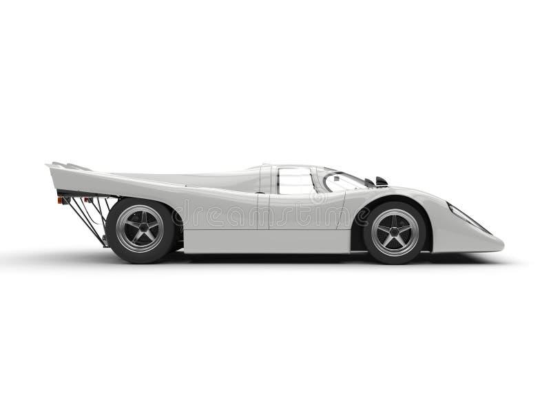 Base white vintage race super car - side view royalty free illustration