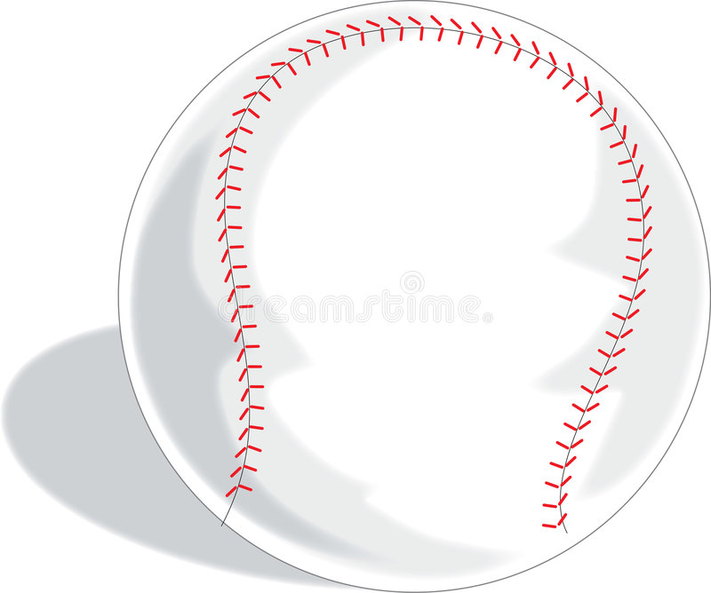 Baseball. A Single baseball on a white background stock illustration