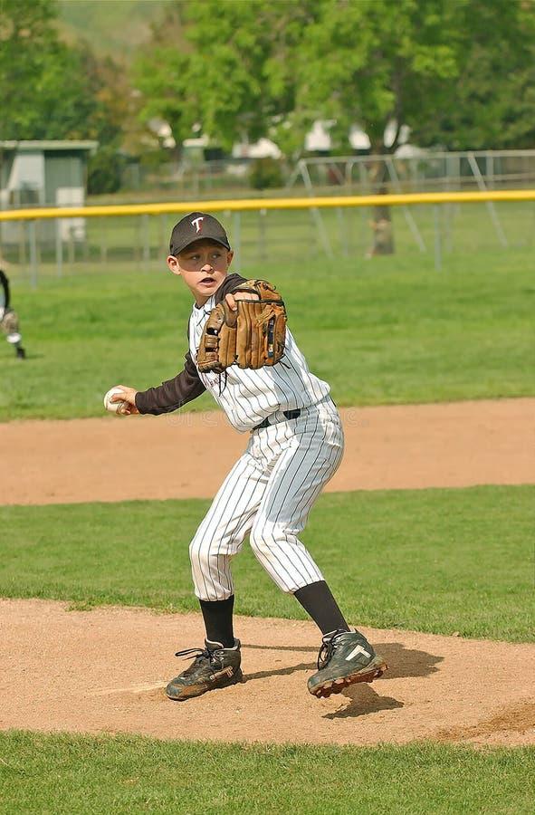 baseball 3 miotacz fotografia stock