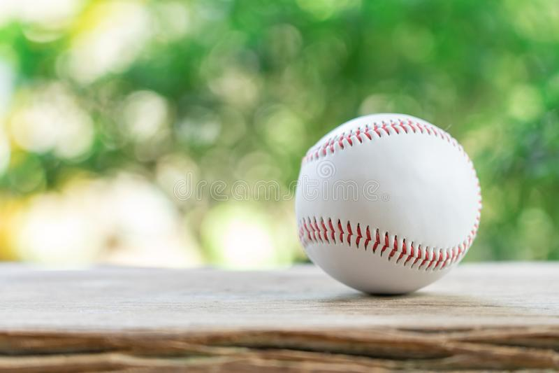 Baseball on Abstract background and red stitching baseball. White baseball with red thread.Baseball is a national sport of Japan. stock images