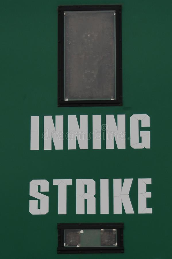 Baseball-Anzeigetafel lizenzfreie stockbilder