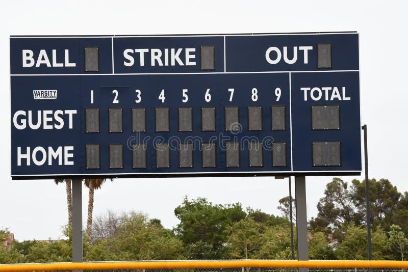 Baseball-Anzeigetafel stockbilder