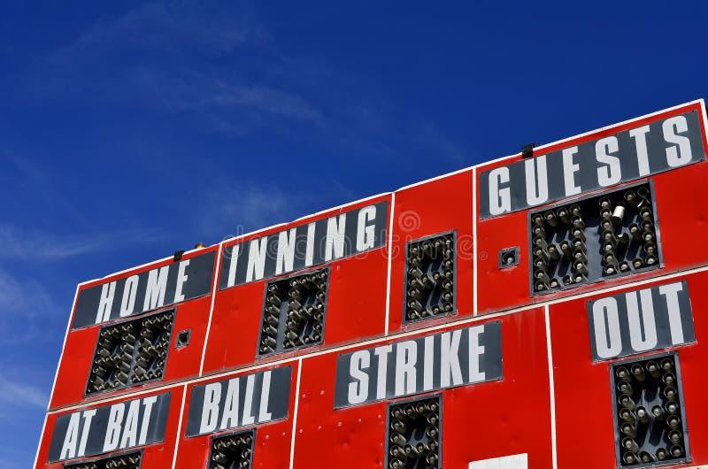 Baseball-Anzeigetafel lizenzfreies stockbild
