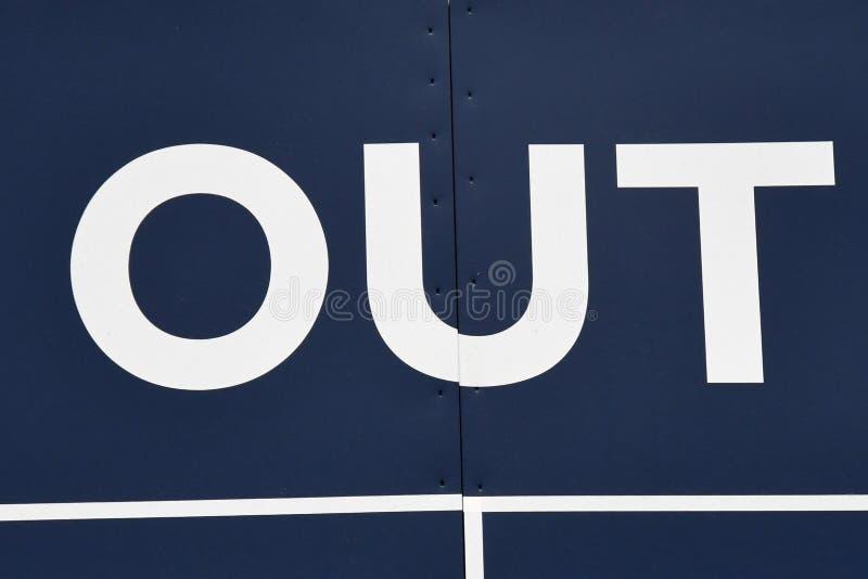 Baseball-Anzeigetafel-Heraus lizenzfreies stockfoto
