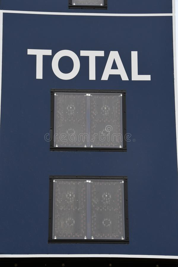 Baseball-Anzeigetafel-Summe stockbild