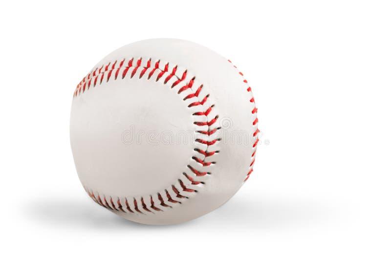 Baseball auf weißem Hintergrund mit natürlichem Schatten lizenzfreie stockfotografie