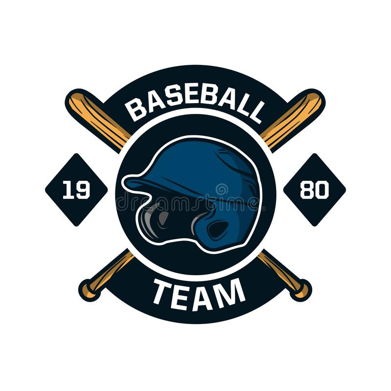Baseball badge logo emblem template team 1980 stock photos