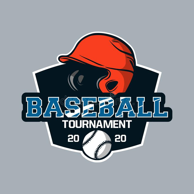 Baseball badge logo emblem template baseball tournament 2020 royalty free stock photos