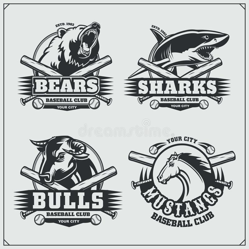 The Emblem With Shark For A Sport Team  Stock Vector - Illustration