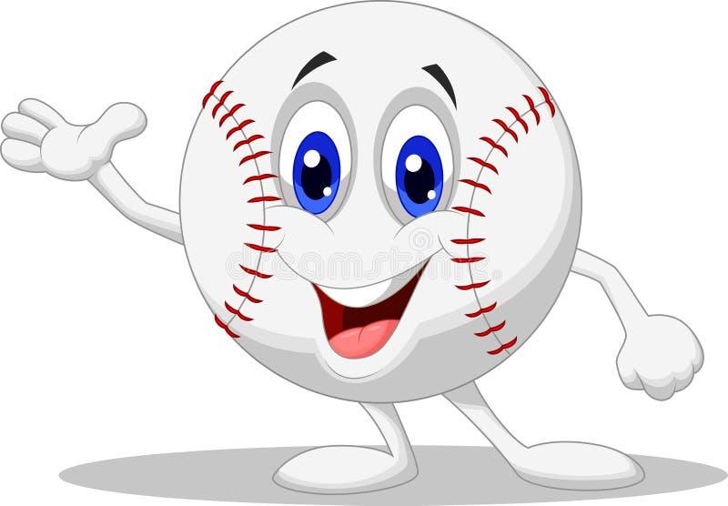Baseball ball cartoon character royalty free illustration